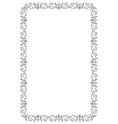 ornamental old frame isolated on white background vector image