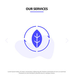 Our services energy green source power solid vector