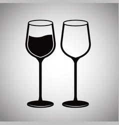 pair glassware wine image vector image