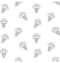 Pattern Ice Cream eps 10 vector