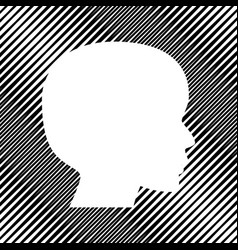 People head sign icon hole in moire vector