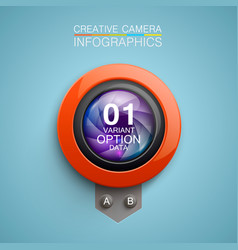 photography camera icon background vector image