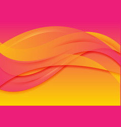 Pink orange abstract wavy background vector