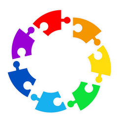 puzzle circle jigsaw game figure icon isolated vector image