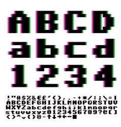 Pxiel font vector image
