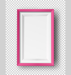 realistic square empty picture frame mockup vector image