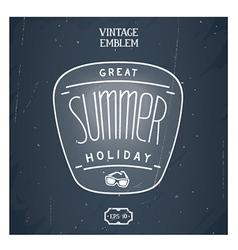 Retro handmade summer emblem vector image