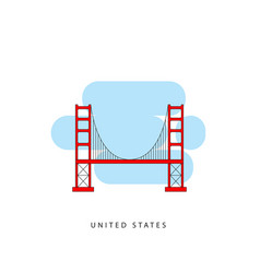 san francisco united states detailed silhouette vector image