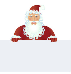 Santa claus standing with christmas banner vector