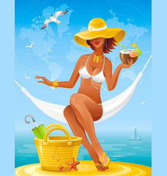 sea beach people travel banner summer holidays vector image