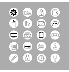 Set of bussines icons vector image