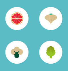 Set of dessert icons flat style symbols with onion vector