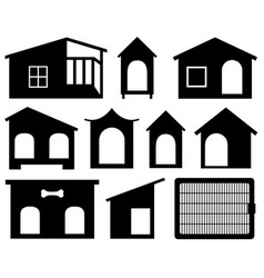 set of different dog houses vector image