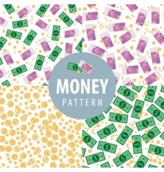 Set of patterns with money vector image