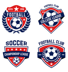 set of soccer football emblems design element for vector image
