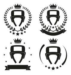 Set of Vintage Boxing Club Badge and Label vector