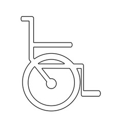 Silhouette abstract wheelchair flat icon vector