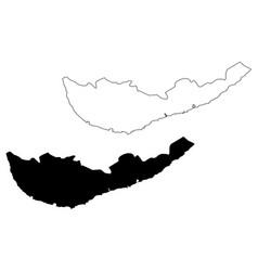 Southern province sri lanka map vector