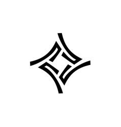 star maze logo icon vector image
