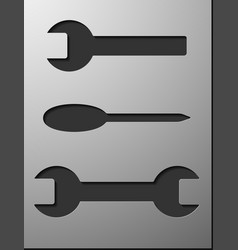 Steel spanners on white background for design vector