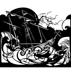 Storm Ship vector image