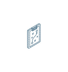 strategy planning isometric icon 3d line art vector image