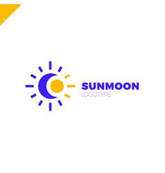 sun and moon logo abstract vector image