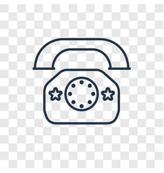 telephone toy concept linear icon isolated on vector image