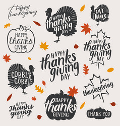 Thanksgiving calligraphic vector