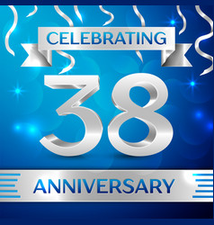 thirty eight years anniversary celebration design vector image