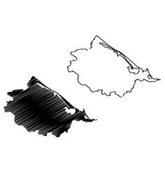 Thua thien-hue province map vector