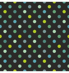 Tile polka dots dark pattern vector