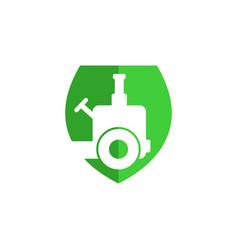 Tractor shield logo vector