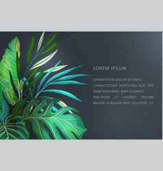 tropical leaves banner concept vector image