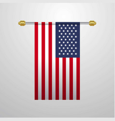 united states of america hanging flag vector image