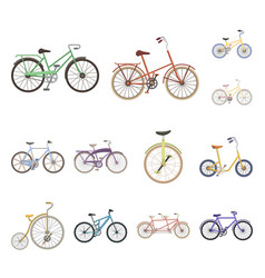 various bicycles cartoon icons in set collection vector image
