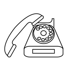 vintage rotary phone icon image vector image