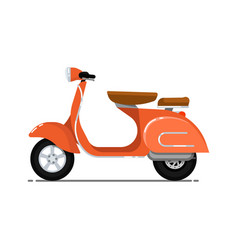vintage scooter isolated on white icon vector image