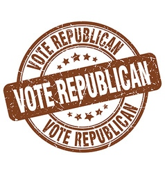Vote republican brown grunge round vintage rubber vector