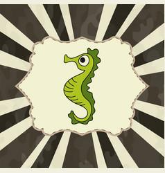Watercolor seahorse vector