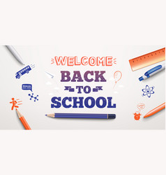 welcome back to school banner vector image