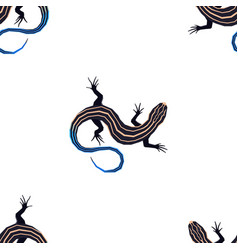 Wild animals five lined skink seamless pattern vector