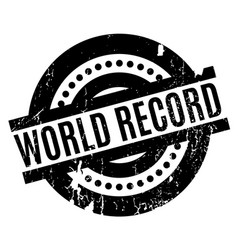 World record rubber stamp vector