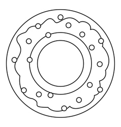 Donut icon outline style vector image vector image