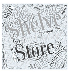 Garage storing shelves word cloud concept vector
