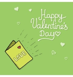Love mail with Valentine card vector image vector image