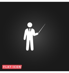 Man standing with pointer icon vector image