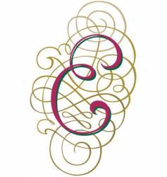 script letter e vector image vector image