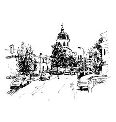 sketch of Kiev historical building Ukraine vector image vector image