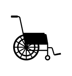 black wheelchair icon vector image